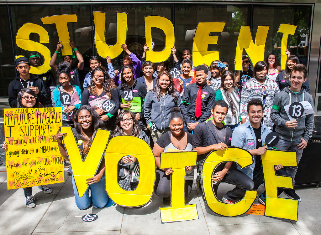 In 2013 – the voices of young ppl were left out of California's LCFF. This oversight set off a 7-month campaign led by hundreds of young people of color staging direct actions and conversations with State Board of Education members about the importance of Student Voice.
